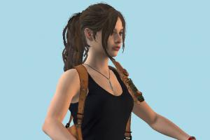 Resident Evil Remake Claire Girl No-Jacket